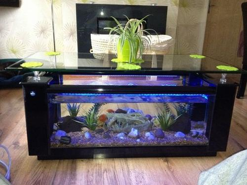 Elite black fish tank coffee table Glass Fish Tanks