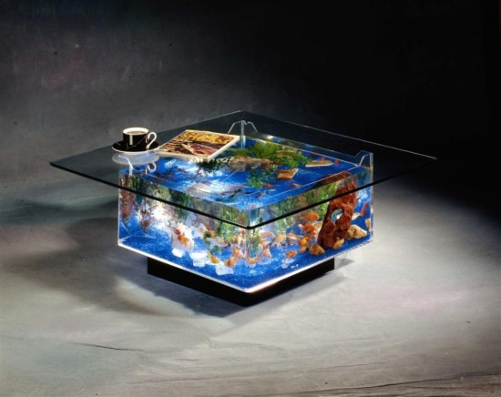 Simple coffee table fish tank