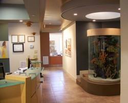 Large round aquarium
