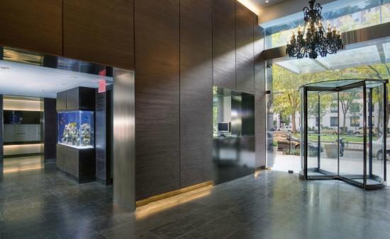 Building lobby fish tank