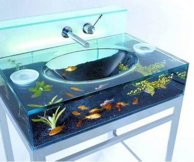 Glass Fish Tanks on 2 bedroom pool house floor plans